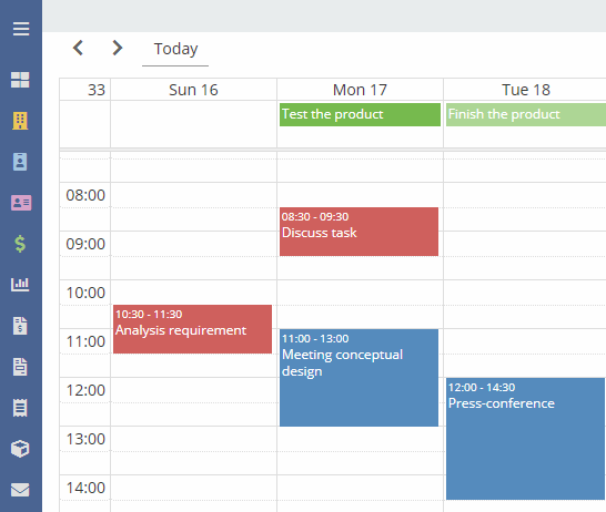 Calendar EspoCRM