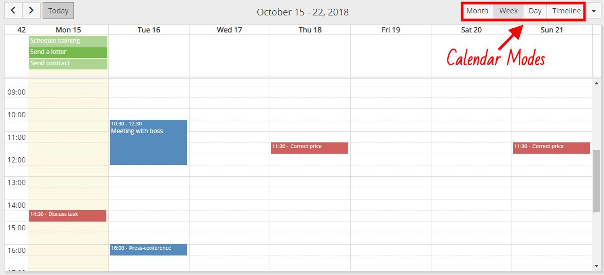 Calendar Modes