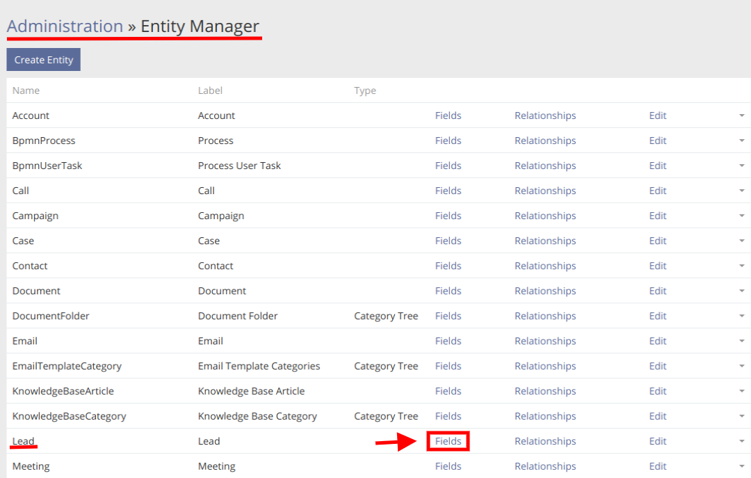 Entity Manager Field Edit