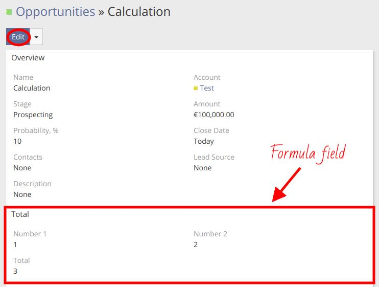 Formula Field Results