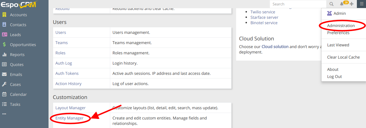 Full Text Search Settings Path