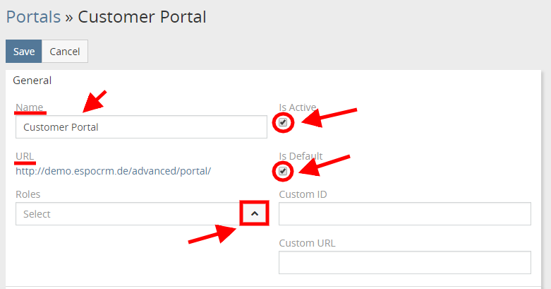 Portal Parameters