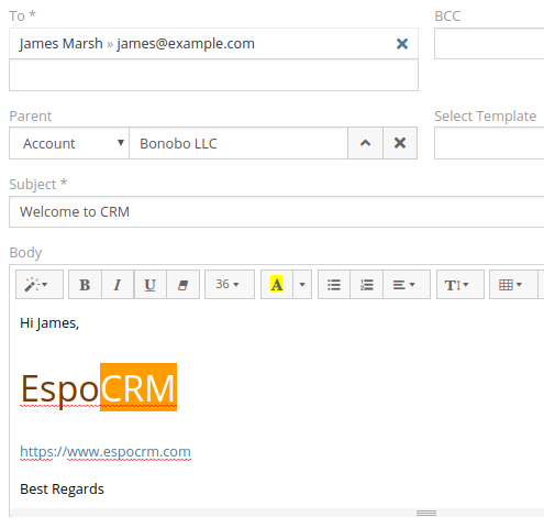 EspoCRM Features