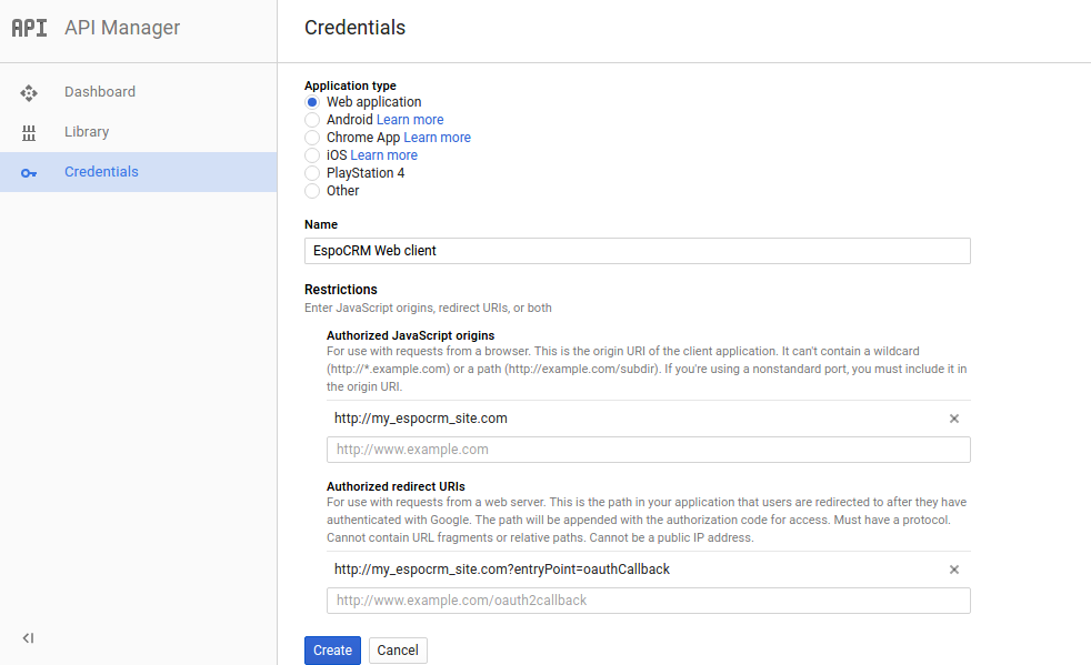 Google Contacts Integration | EspoCRM | Open Source CRM